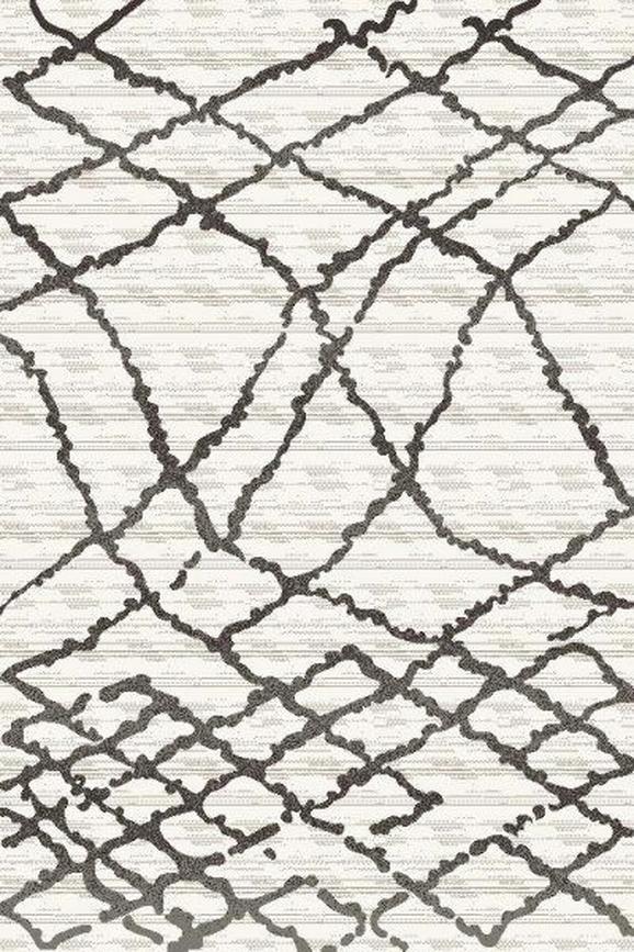 Webteppich Tina ca. 120x170cm - Anthrazit/Creme, KONVENTIONELL, Textil (120/170cm)