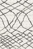 Webteppich Tina ca. 80x150cm - Anthrazit/Creme, KONVENTIONELL, Textil (80/150cm)