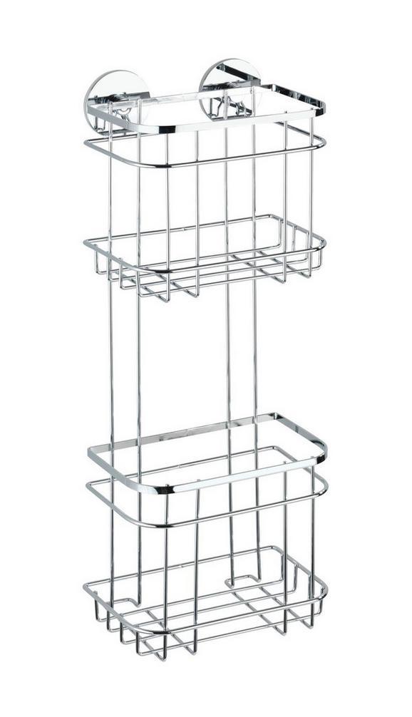 Duschregal aus Edelstahl - MODERN, Metall (22,5/17,5/15,5cm) - Mömax modern living