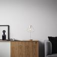 TISCHLEUCHTE max. 40 Watt 'Mauricio' - Weiß, MODERN, Holz/Metall (18/15/30cm) - Bessagi Home