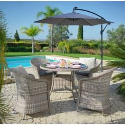 Lounge Garnitúra Toscana - Natúr/Antracit, Műanyag/Üveg - MÖMAX modern living