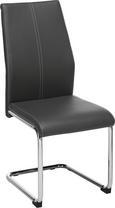 Nihajni Stol Eni - siva/bela, kovina/tekstil (44/96/57cm) - Modern Living