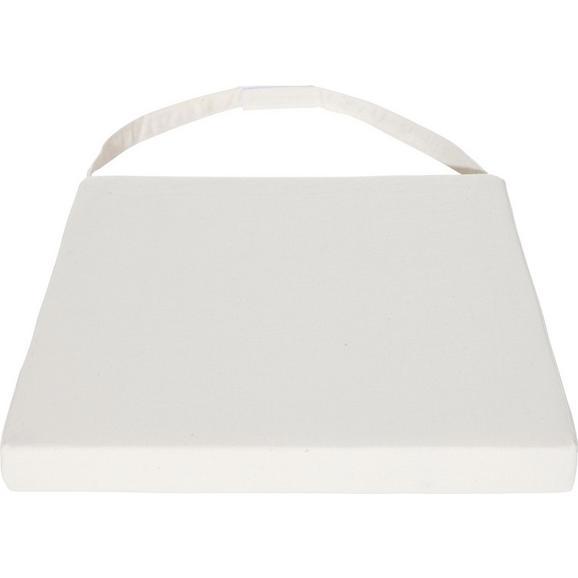 Sitzkissen Industry in Weiß ca.45x5x45cm - Beige, LIFESTYLE, Textil - Zandiara