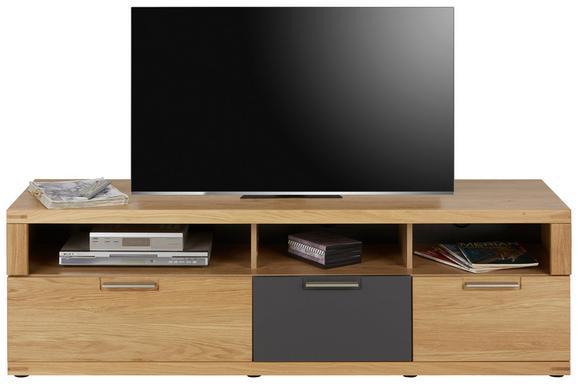 TV-Element Eichefarben - Eichefarben/Graphitfarben, KONVENTIONELL, Holz/Holzwerkstoff (160/52/48cm) - ZANDIARA