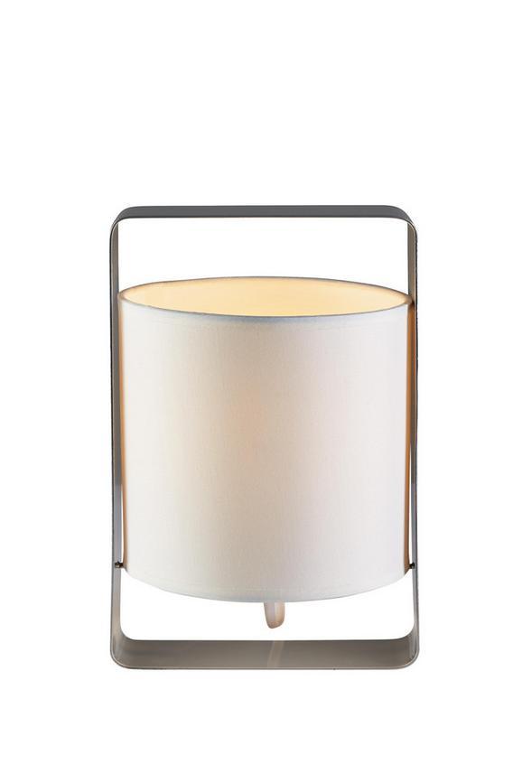 Tischleuchte Graham - Silberfarben, MODERN, Textil/Metall (16/15/25cm) - Mömax modern living