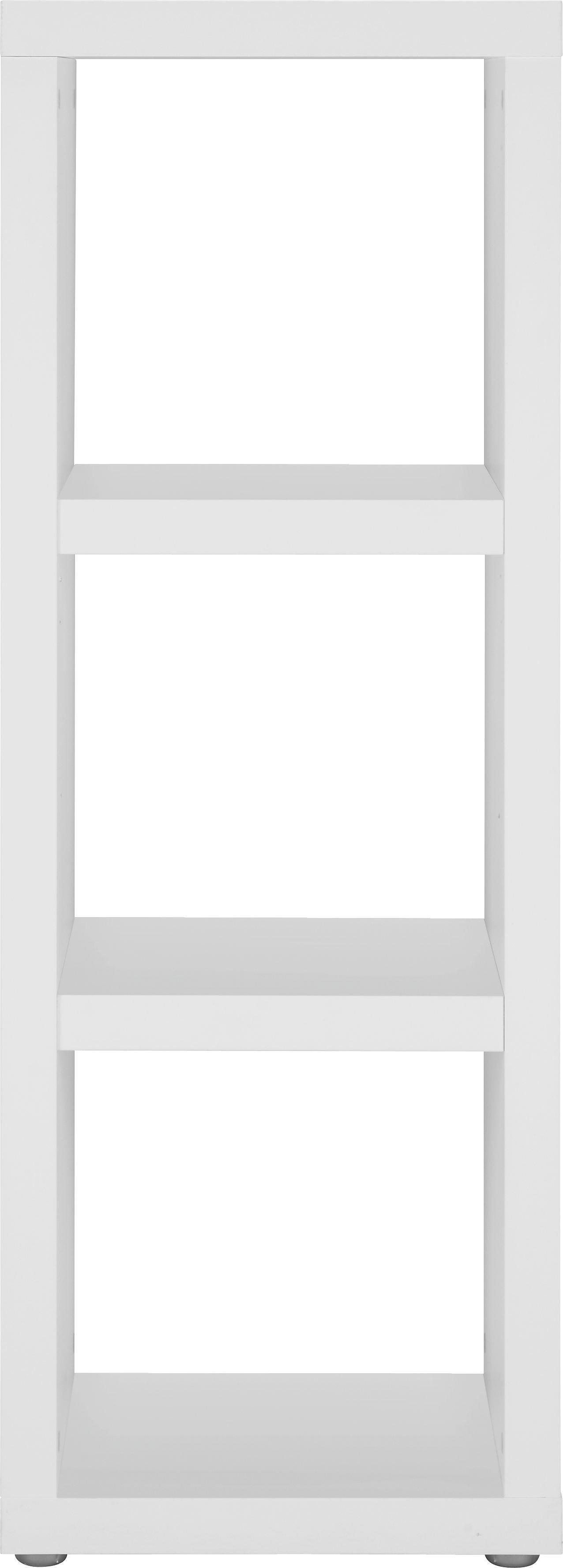 Regal in Weiß lackiert - Alufarben/Weiß, Holzwerkstoff (44/124/35cm) - MÖMAX modern living