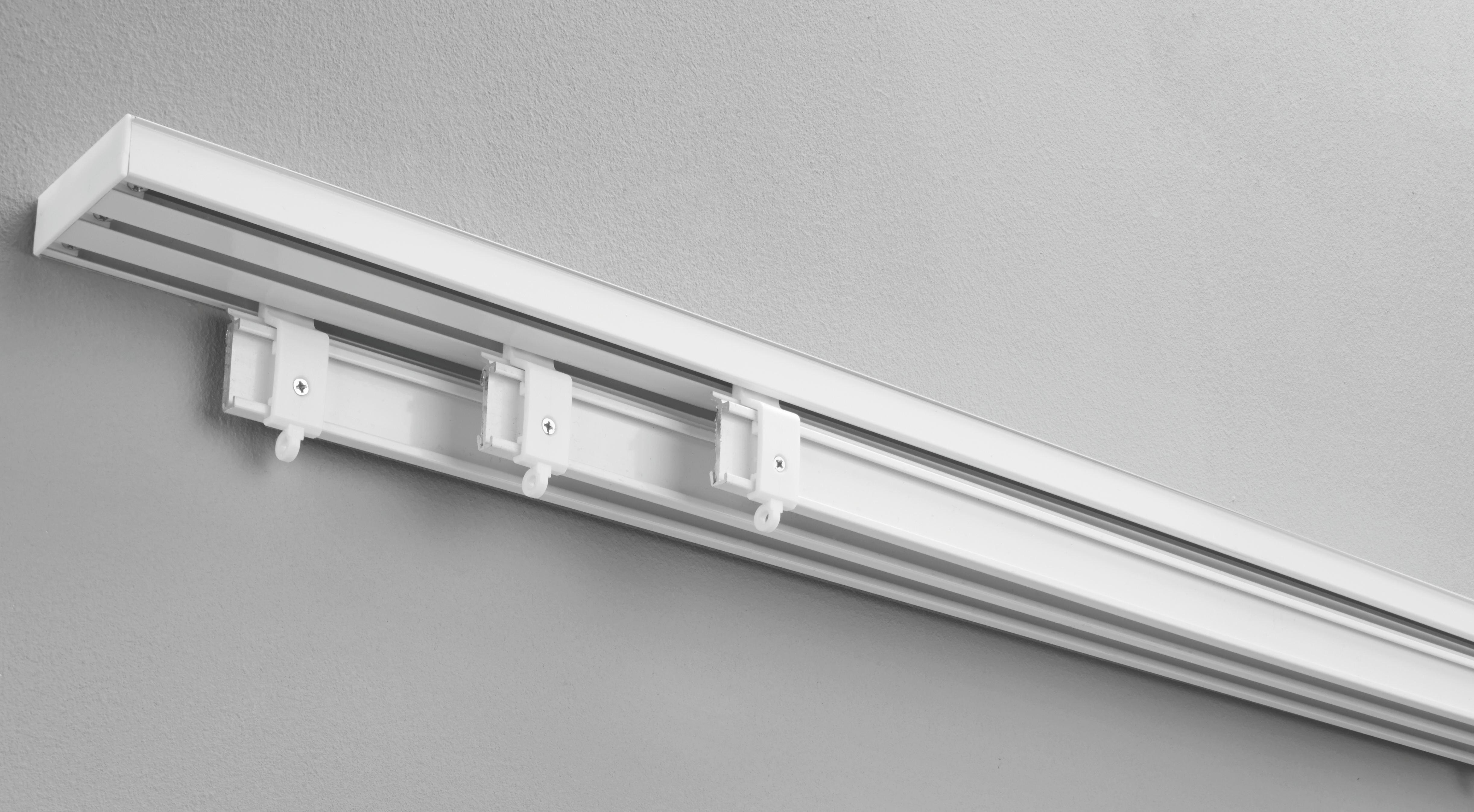 Lapfüggöny Rögzítő Szett Tom - fehér, fém (260cm) - MÖMAX modern living