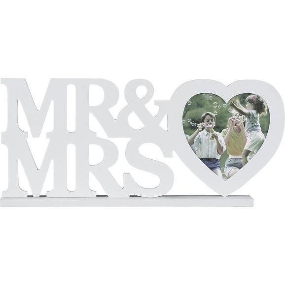 Bilderrahmen Mr&mrs, ca. 45x20x4cm - Weiß, ROMANTIK / LANDHAUS, Holzwerkstoff/Kunststoff (45/20/4cm) - Mömax modern living