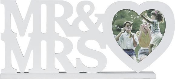 Okvir Za Slike Mr & Mrs - bela, Romantika, umetna masa/leseni material (45/20/4cm) - Mömax modern living