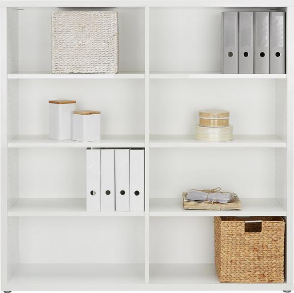 Regal in Weiß - Weiß, MODERN, Holzwerkstoff/Kunststoff (151/150/37cm) - PREMIUM LIVING