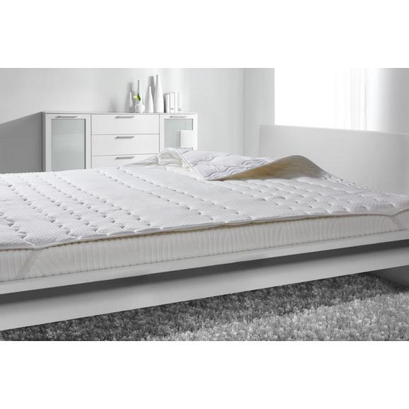 Posteljni Nadvložek Visco -ext- - bela, tekstil (140/200cm) - Nadana