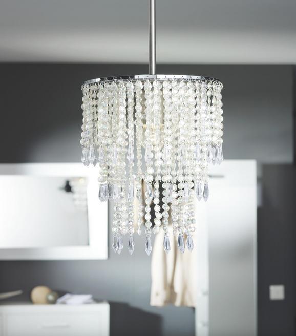 Leuchtenschirm ohne Aufhängung - Chromfarben, Kunststoff (23cm) - Mömax modern living