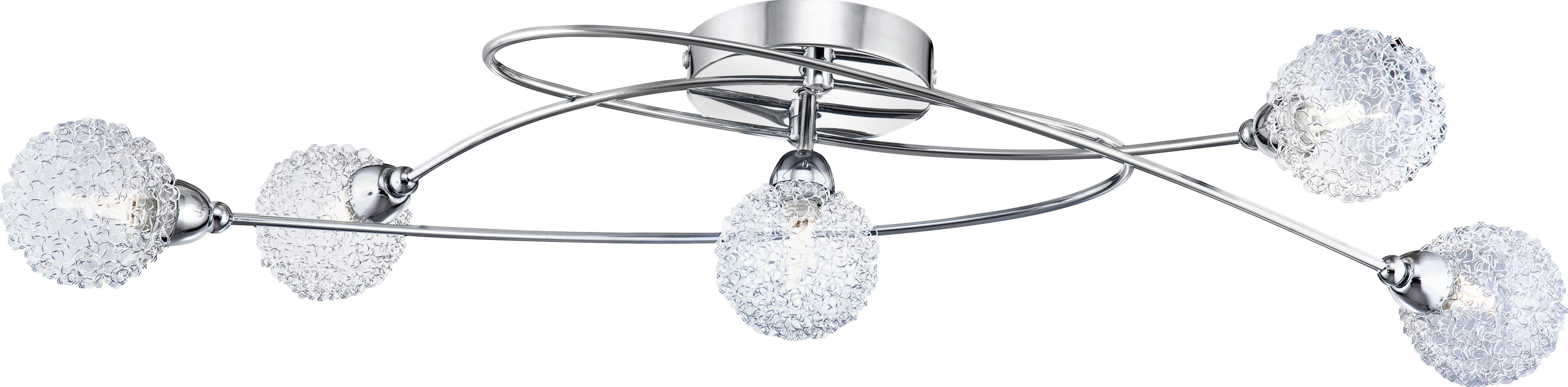 Mennyezeti Lámpa Mia - krómszínű, modern, üveg/fém (76/20/15cm) - MÖMAX modern living