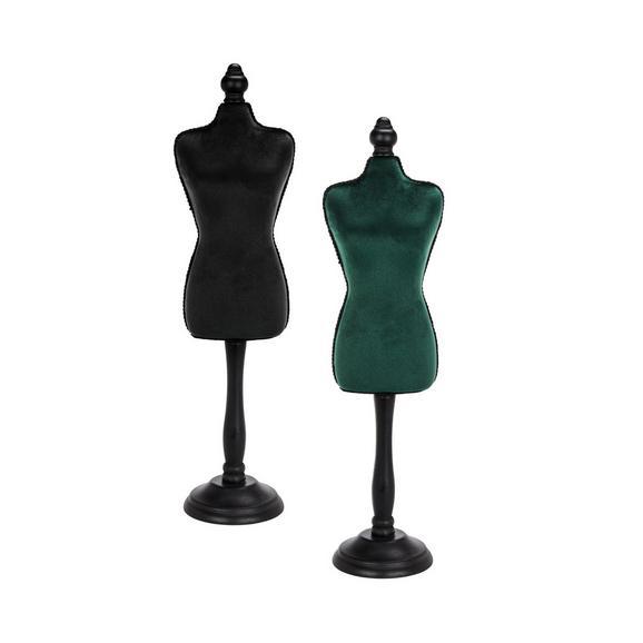 Dekorativna Lutka Velvet - črna/temno zelena, Moderno, umetna masa/tekstil (12/48/8,5cm)