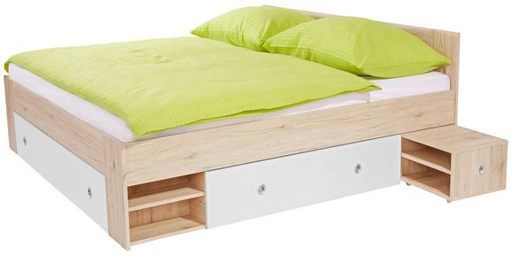 Postelja Azurro 180 - svetlo rjava/bela, Moderno, leseni material (204/75/185cm) - Mömax modern living