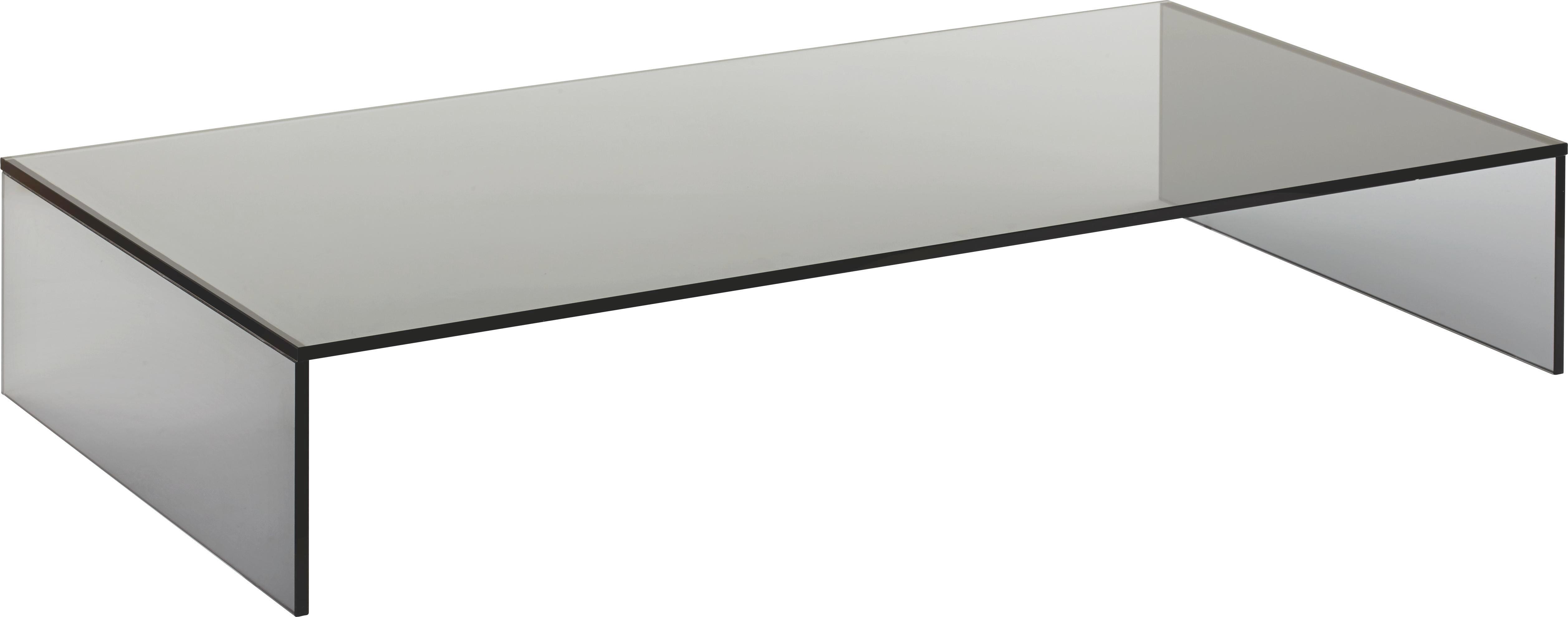 TV-Aufsatz Glas - Dunkelgrau, Glas (80/14/40cm) - MÖMAX modern living