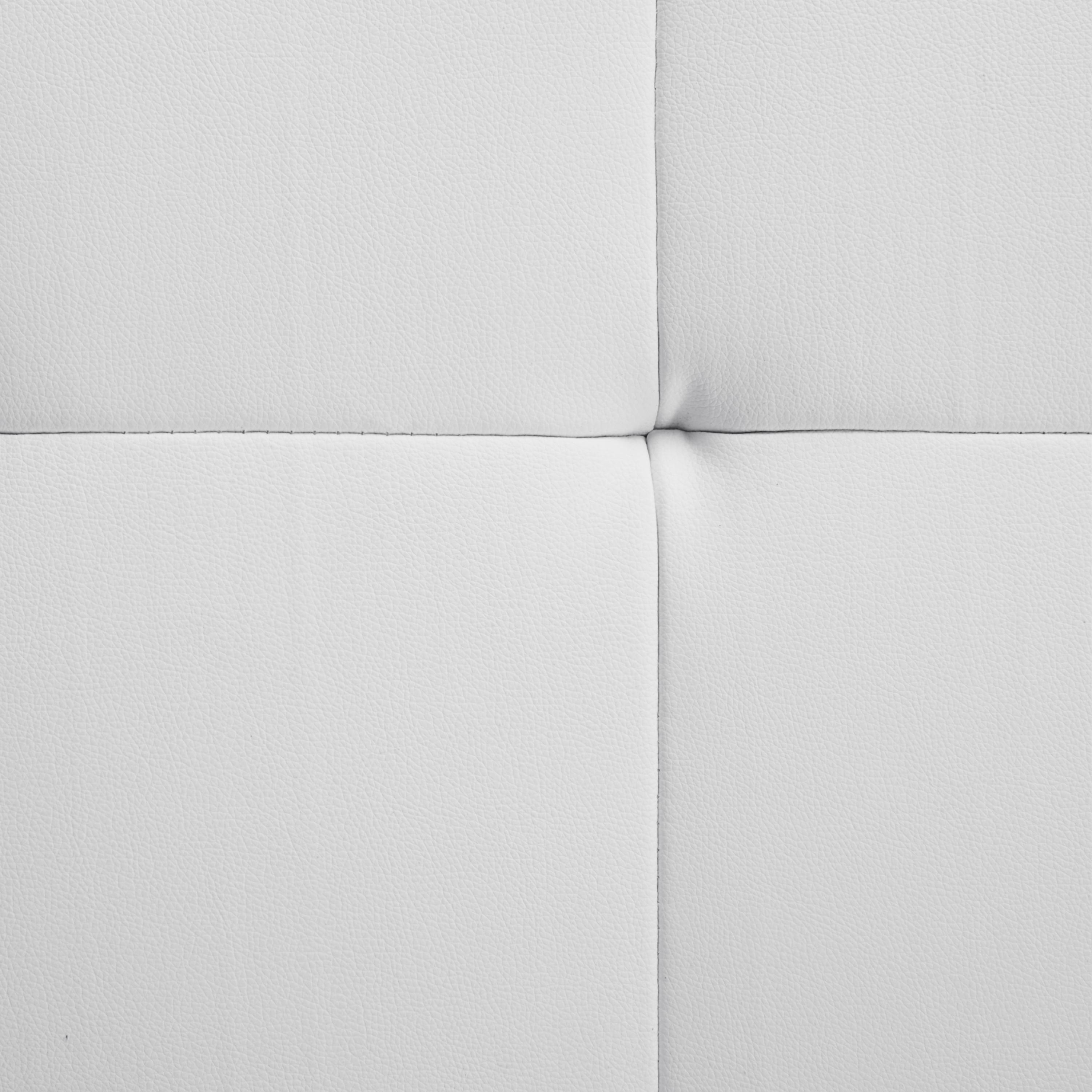 Polsterbett Lasse 180x200cm - Chromfarben/Weiß, MODERN, Holz (214/111/225cm) - MÖMAX modern living