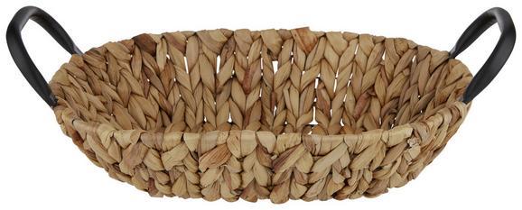 Košara Marly - rjava, kovina/ostali naravni materiali (35/25/8cm)
