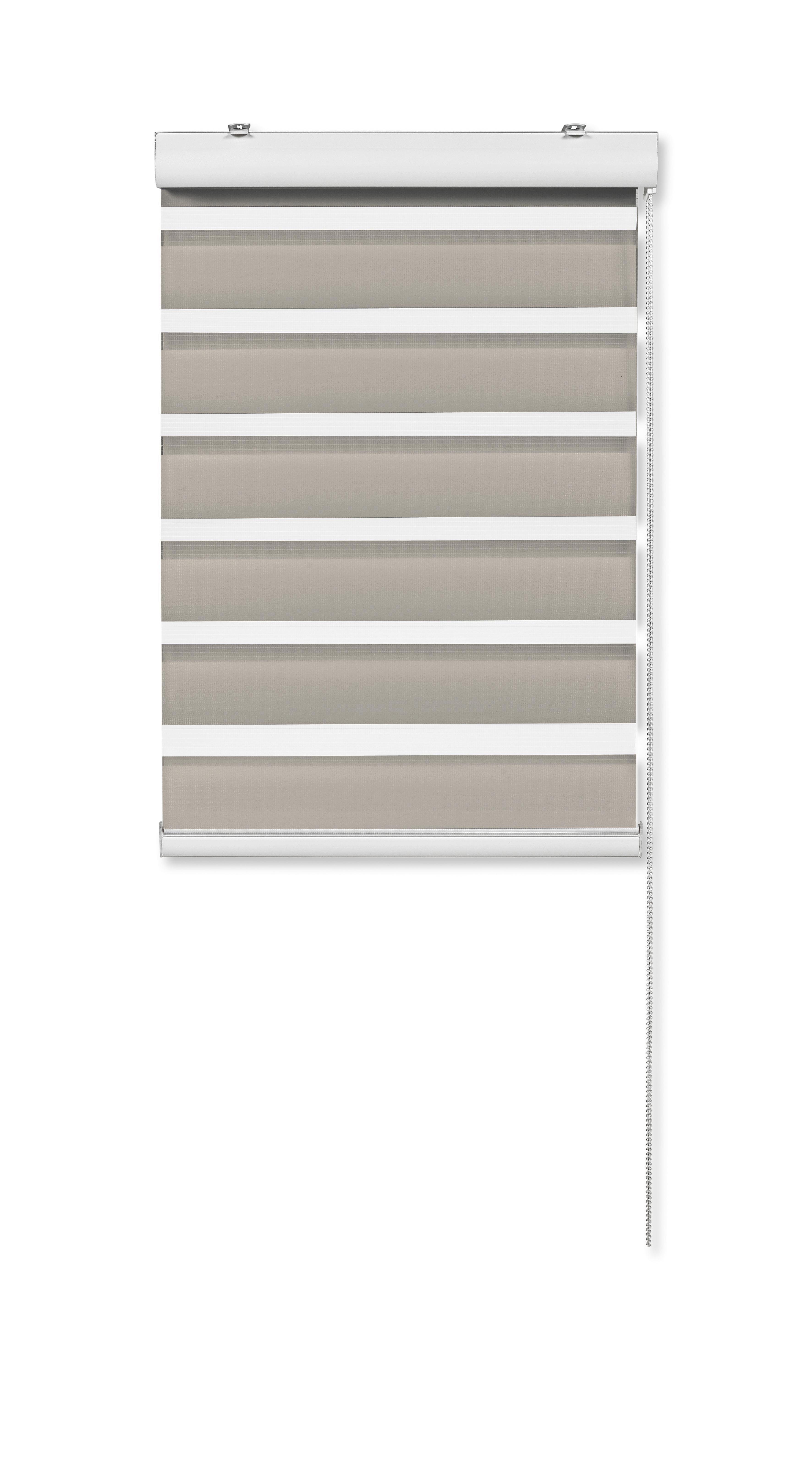 Dupla Roló Klemm Light - szürkésbarna, modern, textil/fém (80/160cm) - MÖMAX modern living