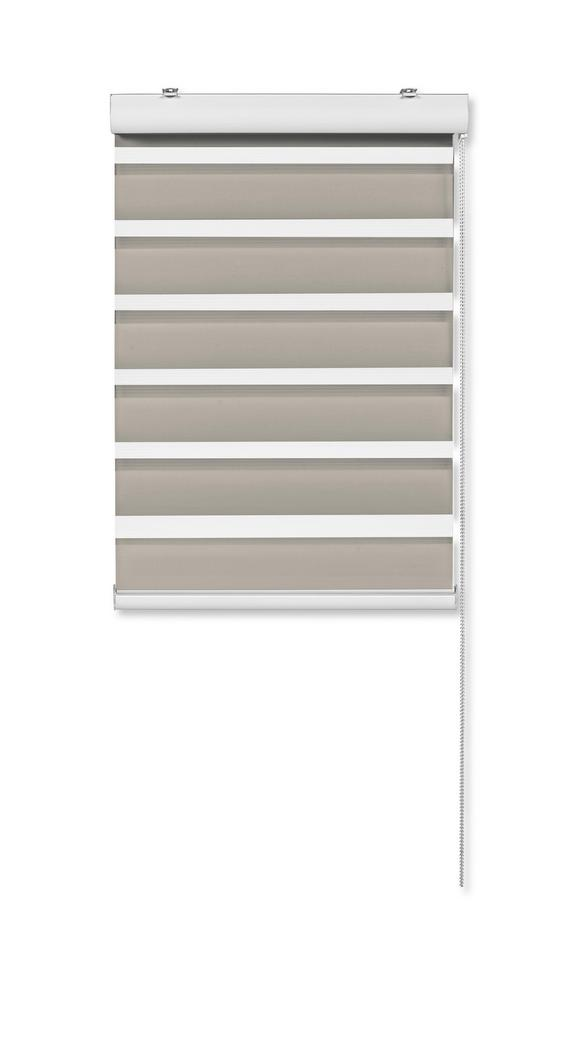 Klemmrollo Klemm Light, ca. 90x210cm - Taupe, MODERN, Textil/Metall (90/210cm) - Mömax modern living