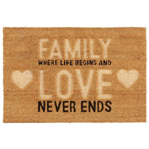 Lábtörlő Family 40/60 - Barna, Műanyag/Textil (40cm) - Mömax modern living