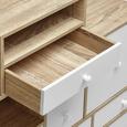 Sideboard Claire - Eichefarben/Weiß, MODERN, Holz (118/95/30cm) - Modern Living