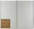 Omara Z Drsnimi Vrati Level 36 - aluminij/bela, Konvencionalno, kovina/leseni material (250 216 65cm) - Premium Living