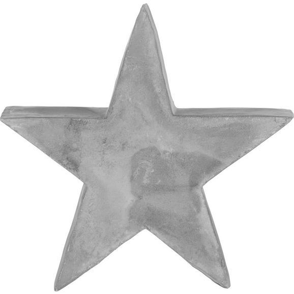 Dekor Csillag Festivus - Szürke, Kő (10/9/3,5cm)