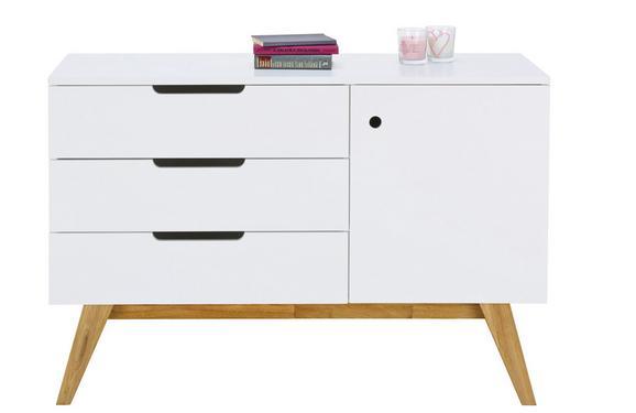 Sideboard Natur/Weiß - Naturfarben/Weiß, MODERN, Holz/Holzwerkstoff (120 80 45cm) - Zandiara