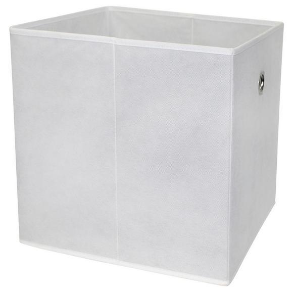 Cutie Pliabilă Cubi - alb, Modern, compozit lemnos/textil (32/32/32cm)