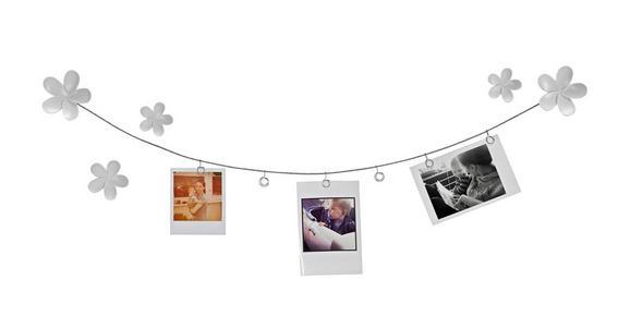 Fotohalter Casius, ca. 20,96x14,73x4,57cm - Weiß, MODERN, Kunststoff/Metall (20,96/14,73/4,57cm) - Mömax modern living