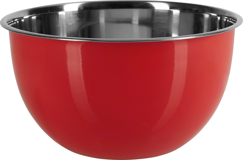 Schüssel Dani in Rot, Ø ca. 26cm - Edelstahlfarben/Rot, Metall (26/14cm) - MÖMAX modern living
