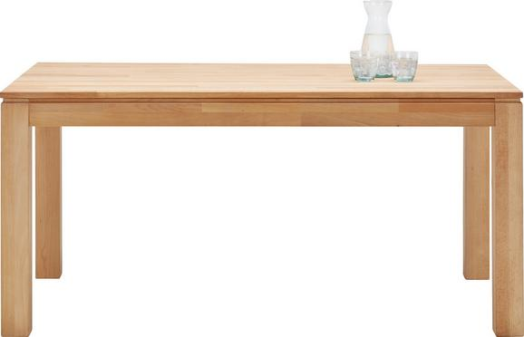 Ausziehtisch aus Buche Massiv - Buchefarben, KONVENTIONELL, Holz (160-220/75/90cm) - Zandiara