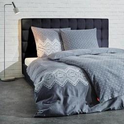 Bettwäsche S'oliver Flanell - Silberfarben/Grau, MODERN, Textil (135x200/80x80cm) - S. Oliver