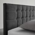 Polsterbett Gallardo 140x200cm inkl. 7-zonen-ttfk-matatze - Anthrazit/Weiß, MODERN, Holz/Textil (146/100/215cm) - Mömax modern living