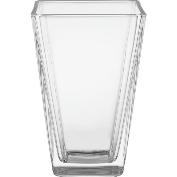 Vase Mona aus Glas - Klar, Design, Glas (17cm) - Based