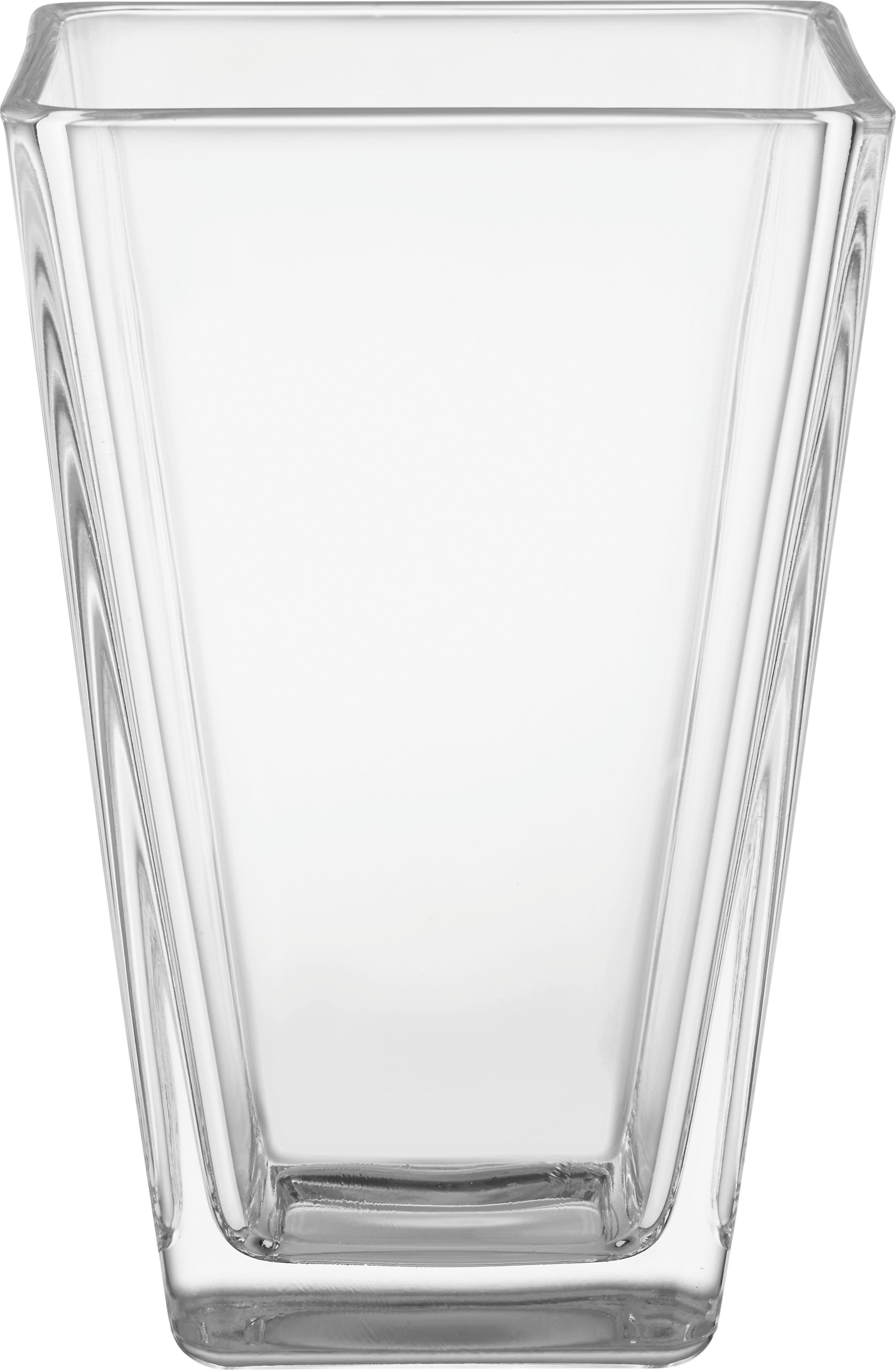 Vase Mona aus Glas - Klar, MODERN, Glas (11/17/11cm) - BASED