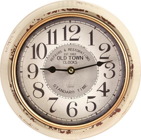 Uhr Baci ca.ø24,5cm - Hellgrau/Schwarz, MODERN, Glas/Papier (24,5cm) - Mömax modern living