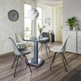 Stuhl in Grau - Schwarz/Grau, MODERN, Kunststoff/Textil (55,5/86/48cm) - Modern Living