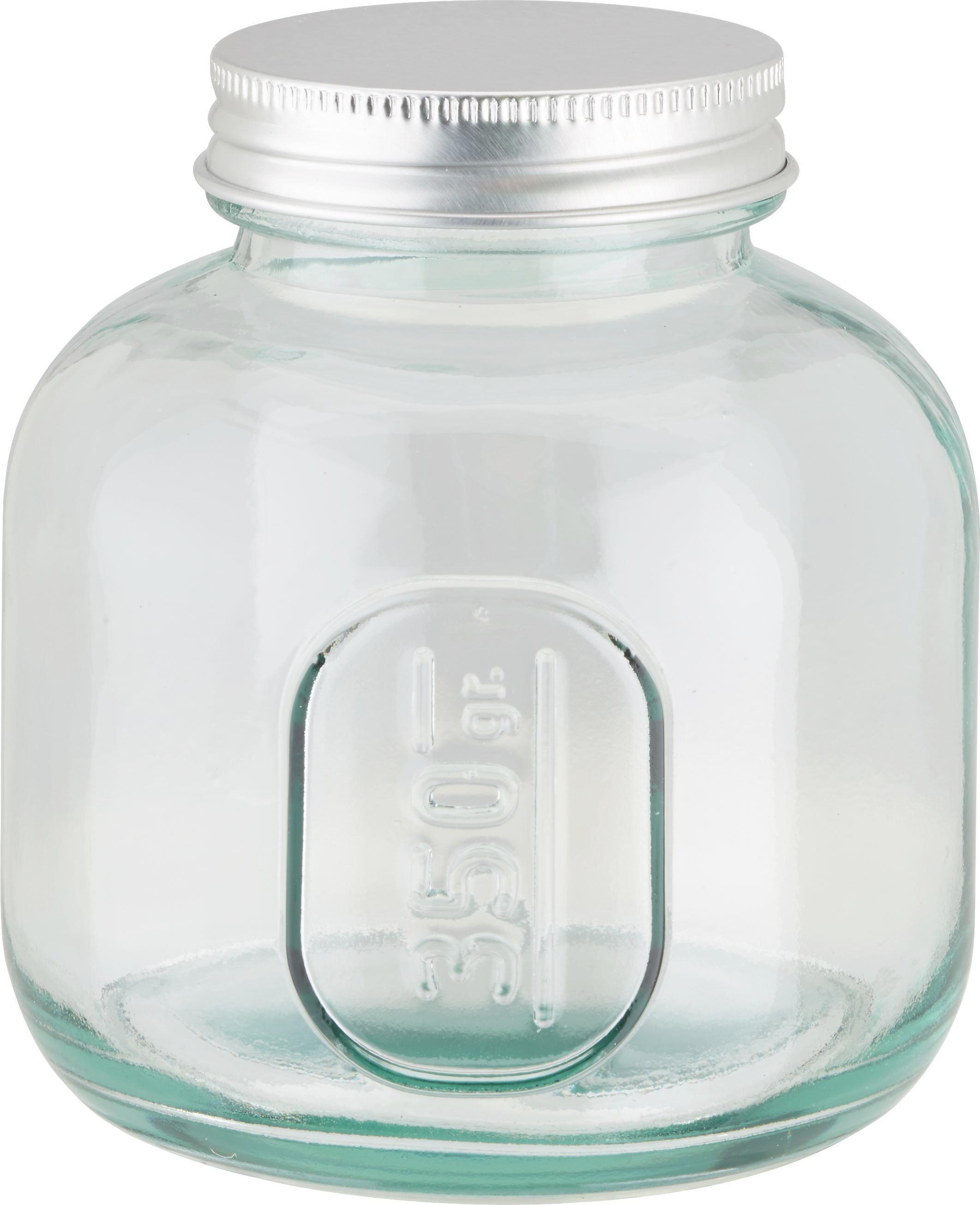 Vorratsglas Emilie aus Glas mit Verschluss - Klar/Silberfarben, ROMANTIK / LANDHAUS, Glas/Metall (9/10cm) - MÖMAX modern living