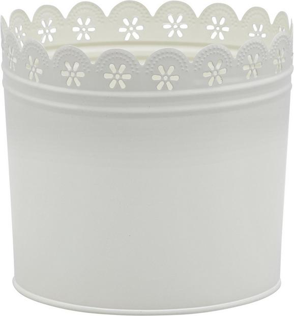 Cvetlični Lonček Vicky - bela, kovina (18/16cm) - Mömax modern living