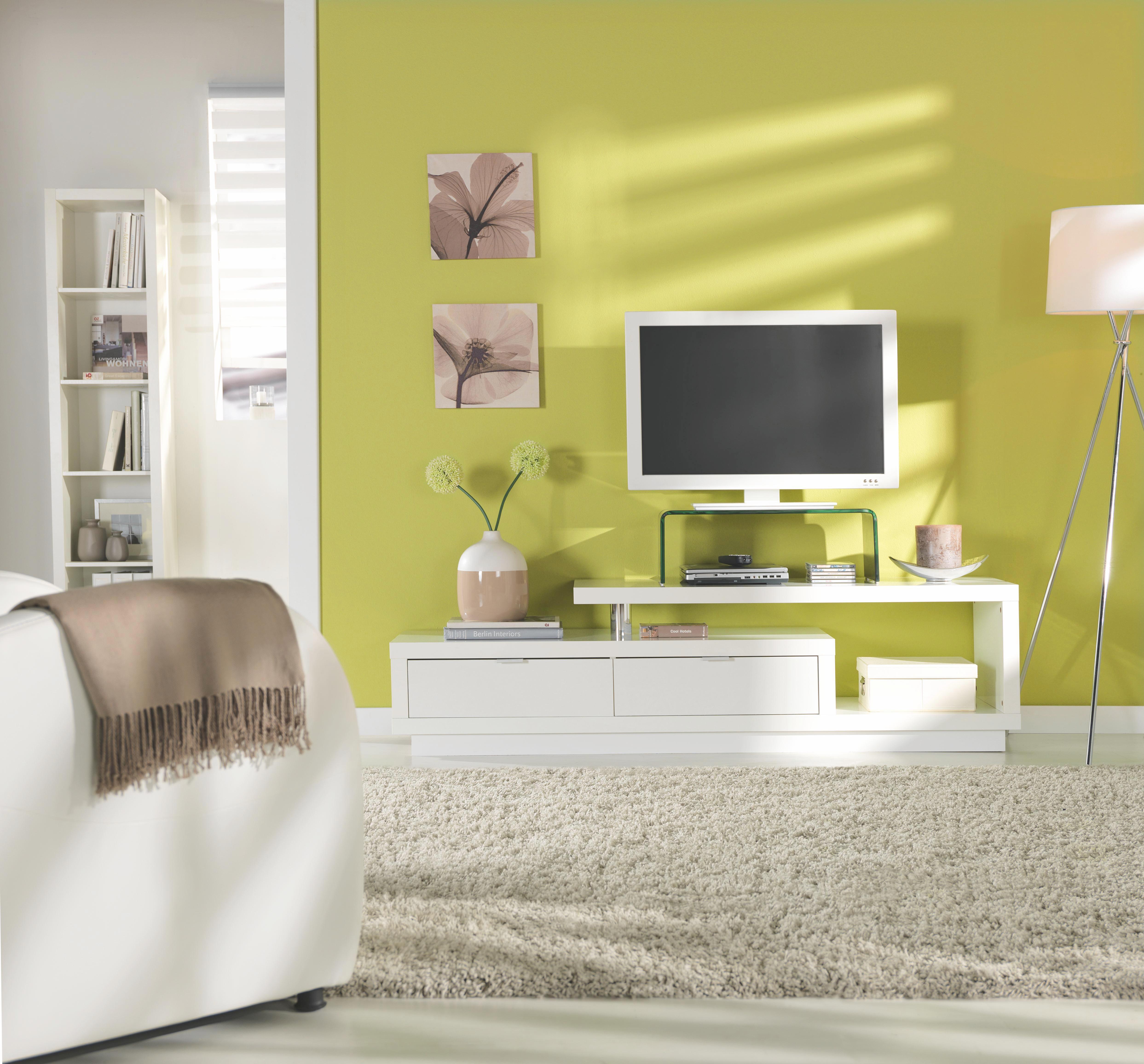 Tv-element Sebastian - bela, Moderno, leseni material (170/45/40cm)