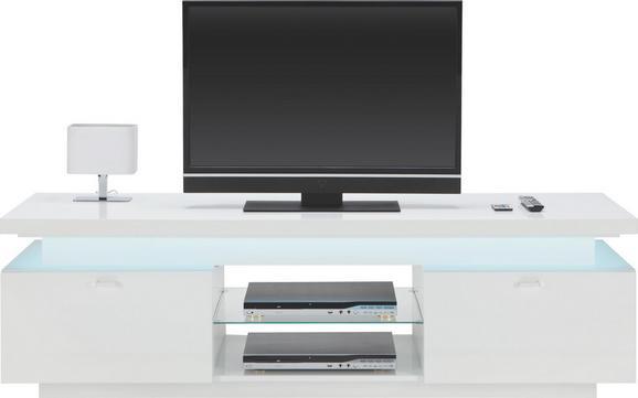 Lowboard Weiß Hochglanz - Chromfarben/Weiß, MODERN, Glas/Kunststoff (174.8/52/49cm) - Mömax modern living