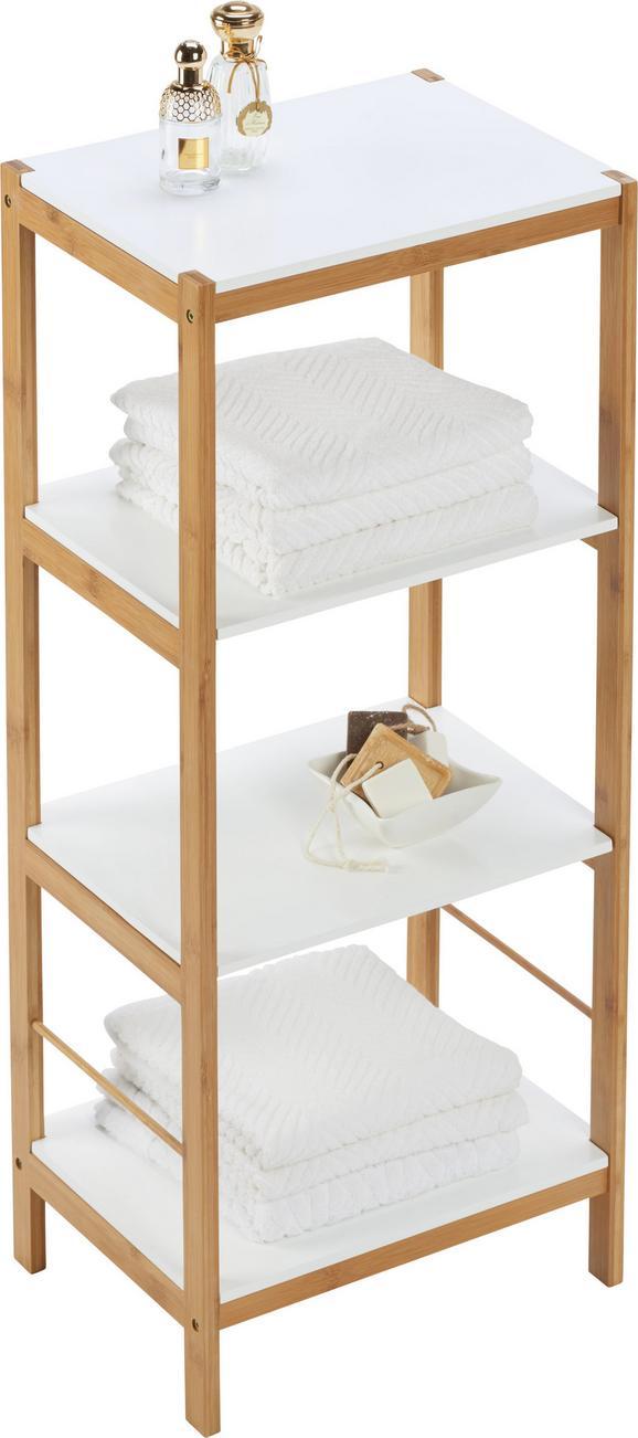 Badezimmerregal mirella naturfarben weiß konventionell holz 40 95 30cm