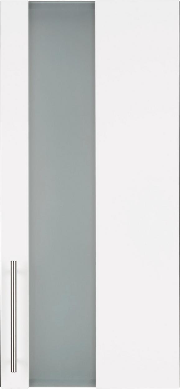 Oberschrank Weiß/Anthrazit - Chromfarben/Anthrazit, MODERN, Glas/Holzwerkstoff (34/70/21cm) - Mömax modern living