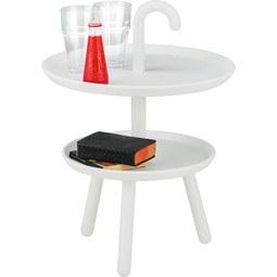 Kisasztal Jacky White -trend- - fehér, modern, műanyag (42/56cm) - MÖMAX modern living