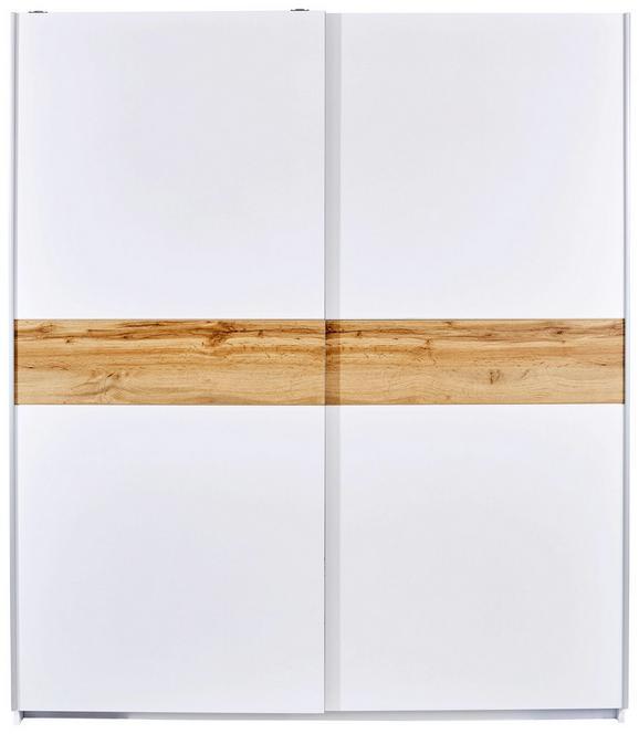 Omara Z Drsnimi Vrati Basic 4 - aluminij/bela, Konvencionalno, kovina/leseni material (170/195/60cm) - Mömax modern living