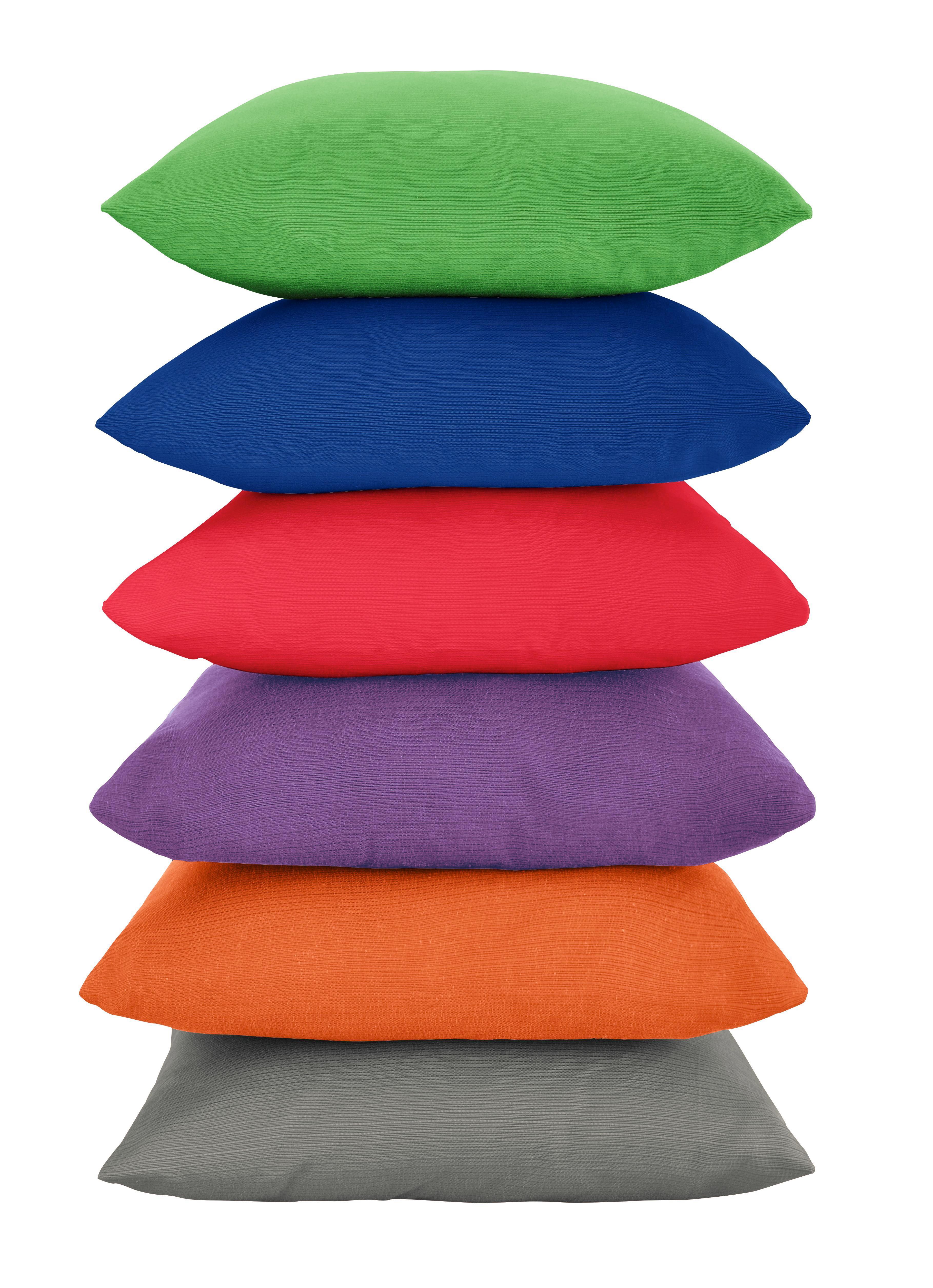 Zierkissen Java, ca. 40x40cm - Blau/Pink, Textil (40/40cm) - MÖMAX modern living