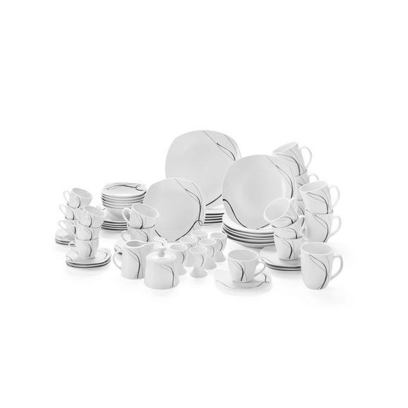 Serviciu De Masă Mona- Top - alb/negru, ceramică - Mömax modern living