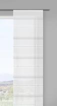 Panelna Zavesa Louis - siva/bela, Konvencionalno, tekstil (60/245cm) - Mömax modern living